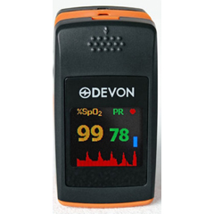 MON60055700 - Devon MedicalFingertip Pulse Oximeter Battery Operated Visual Alarm