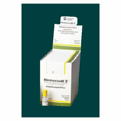 MON174822BX - Hemocue - Rapid Diagnostic Test Kit Hemoccult II® Dispensapak Plus Colorectal Cancer Screen Fecal Occult Blood Test (FOB) Stool Sample CLIA Waived 40 Tests