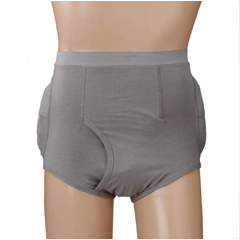 MON60313000 - PoseyHip Protection Brief Community Hipsters® Large Gray Male