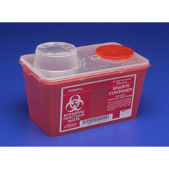 MON60382800 - MedtronicSharps-A-Gator™ Sharps Container, Chimney Top, Red, 4 Quart