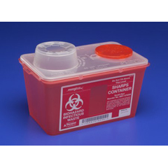 MON60382840 - MedtronicSharps-A-Gator™ Sharps Container, Chimney Top, Red, 4 Quart