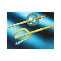 MON60451900 - Bard MedicalFoley Catheter Bardex Lubricath 3-Way Standard Tip 30 cc Balloon 16 Fr. Latex