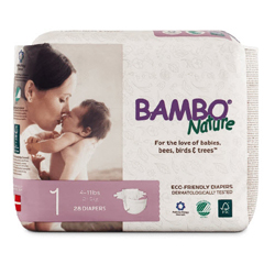 MON60513127 - AbenaBaby Diaper Bambo Nature Tab Closure Size 5 Disposable, 27/PK