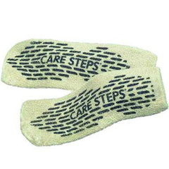 MON60521048 - Alba HealthcareSlipper Socks Care-Steps Adult 2 X-Large Blue Above the Ankle