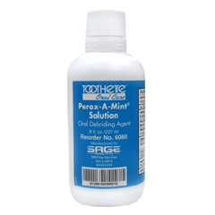MON60601700 - Sage ProductsMouthwash Perox-A-Mint® 8 oz. Mint, 12EA/CS