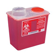 MON60872800 - MedtronicSharps-A-Gator™ Sharps Container, Chimney Top, Red, 8 Quart
