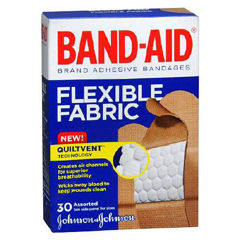 MON61272000 - Johnson & Johnson - Adhesive Strip Band-Aid 0.625 x 2.25 / .75 x 3 / 1 x 3 Fabric Rectangle Tan Sterile