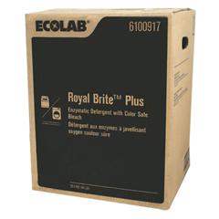 MON1095282EA - Ecolab - Royal Brite Plus Enzymatic Detergent with Color Safe Bleach, 45 lb.