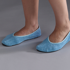MON62401200 - PoseySlippers Adult Medium Blue Below the Ankle