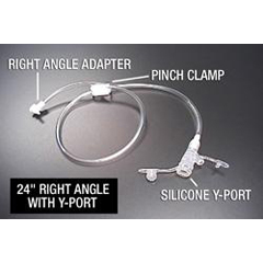 MON62434610 - Applied Medical Technologies - Right Angle Connector with Y-Port Adapter AMT Mini Classic 24