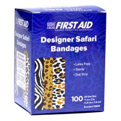 MON875162CS - Dukal - Adhesive Strip Stat Strip® .75 x 3 Plastic Rectangle Kid Design (Designer Safari) Sterile, 1200/CS