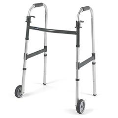 MON62953800 - InvacareDual Release Folding Walker Adjustable Height PVC 300 Lbs