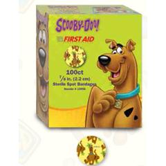 MON62982000 - Dukal - Adhesive Strip Stat Strip® 7/8 Plastic Round Kid Design (Scooby Doo) Sterile, 2400/CS