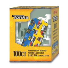 MON63082000 - Dukal - Adhesive Strip Stat Strip® 3/4 x 3 Plastic Rectangle Kid Design (Tonka) Sterile, 1200/CS