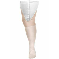 MON63100300 - Carolon CompanyAnti-embolism Stockings CAP Thigh-high Large, Regular White Inspection Toe