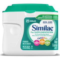 MON63132601 - Abbott NutritionInfant Formula Similac® For Supplementation 1.45 lbs. Canister Powder