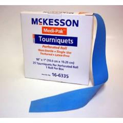 MON63352500 - McKessonMedi-Pak® Tourniquet Band on Roll, 18 Inch Polyisoprene, 1 Roll of 25 Tourniquets