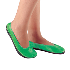 MON63461202 - PBESlippers Pillow Paws Adult Large Emerald Below the Ankle