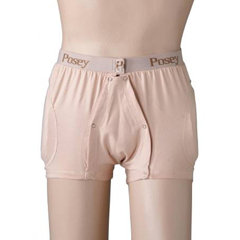 MON64173000 - PoseyHipsters® Unisex & Hip Protection Briefs, Beige, Medium