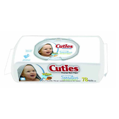 MON64333101 - First QualityBath Wipe Cuties Soft Pack 72 per Pack