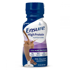 MON984042EA - Abbott Nutrition - Oral Supplement Ensure Active High Protein for Muscle Health Milk Chocolate 8 oz. Bottle Ready to Use
