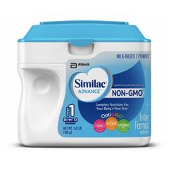 MON64422601 - Abbott NutritionInfant Formula Similac® Advance® Non-GMO 1.45 lb. Carton Powder