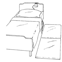MON64523200 - Skil-CareFloor Sensor Pad Alarm System FloorPro Cream / Blue