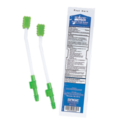 MON65121700 - Sage ProductsToothette Plus Suction Swab Single Use Mouth Care System 2Swabs Sod Bicarb