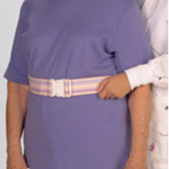 MON65303000 - PoseyGait Belt Up to 52 Inch Pastel Bouquet Sturdy Cotton