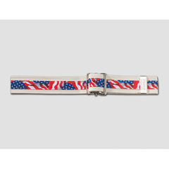 MON65493000 - PoseyGait Belt 54 Inch Stars and Stripes Cotton