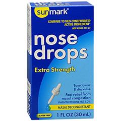 MON65712700 - McKessonSinus Relief sunmark 1% Strength Nasal Drops 1 oz., 1/ EA
