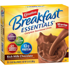 MON53032600 - Nestle Healthcare NutritionOral Supplement CARNATION® Breakfast Essentials, Chocolate, 36 gm