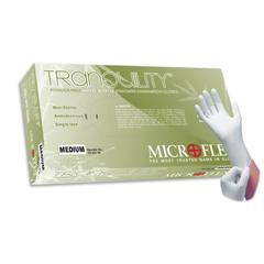 MON66241300 - Microflex MedicalTranquility® NS Nitrile Textured Fingertips White Medium, 100/BX, 10BX/CS