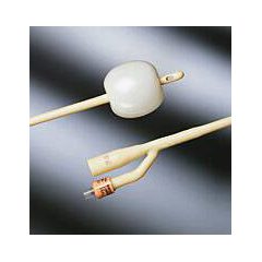 MON66241900 - Bard MedicalFoley Catheter The Bardex I.C. 2-Way Standard Tip 30 cc Balloon 24 Fr. Silver Alloy Coated Latex