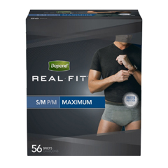 MON66383102 - Kimberly Clark ProfessionalDepend Real Fit® Pull-On Briefs (36638), Small, 56/CS