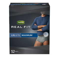 MON66393102 - Kimberly Clark ProfessionalDepend Real Fit® Pull-On Briefs (36639), XL, 52/CS