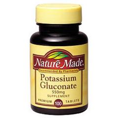 MON66542700 - PharmavitePotassium Gluconate Nature Made® 550 mg, 100 Tablets per Bottle