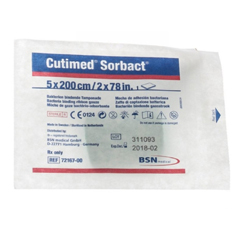 MON681961EA - BSN Medical - Cutimed® Sorbact® Wound Packing Cotton Ribbon Gauze 2 X 78.7 Inch
