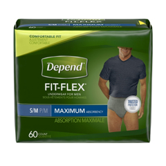 MON67073102 - Kimberly Clark ProfessionalDepend FIT-FLEX® Protective Underwear (36707), Small, 60/CS