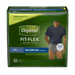 MON67083102 - Kimberly Clark ProfessionalDepend FIT-FLEX® Protective Underwear (36708), XL, 52/CS