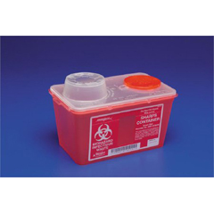 MON67612810 - MedtronicSharps-A-Gator™ Sharps Container, Chimney Top, Red, 14 Quart