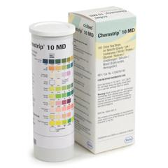 MON452069VL - Roche - Urine Reagent Strip Chemstrip® 10 MD Glucose, Bilirubin, Ketone, Specific Gravity, Blood, pH, Protein, Urobilinogen, Nitrite, Leukocytes 100 Strips, 100EA/BX