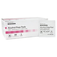 MON68182700 - McKesson - Alcohol Prep Pad Medi-Pak™ Isopropyl Alcohol, 70% Individual Packet Medium Sterile, 200EA/BX