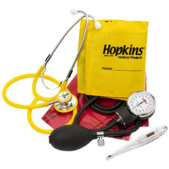 MON69482500 - Hopkins Medical ProductsISO Vital Signs Kit Aneroid Sphygmomanometer / Stethoscope Combo Arm