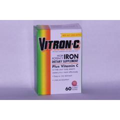 MON69982700 - Emerson HealthcareIron Supplement Vitron-C 125 mg / 65 mg Strength Coated Tablet 60 per Bottle