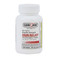 MON555686BT - McKesson - Pain Reliever Tablets 325 mg, 100EA per Bottle