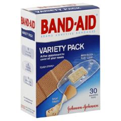 MON770776BX - Johnson & Johnson - Adhesive Strip Band-Aid® Fabric / Plastic Assorted Sizes Clear / Tan Sterile