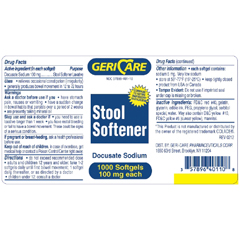 MON70082700 - McKessonStool Softener Softgel Capsule 1000 per Bottle 100 mg Strength Docusate Sodium