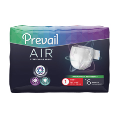 MON70123116 - First QualityPrevail Air™ Stretch Brief, Heavy Absorbency, Size 1, (26 to 48), 16/BG, 6BG/CS