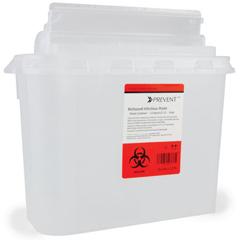 MON70492800 - McKessonSharps Container Prevent® 5.4 Quart Horizontal Entry Lid, 10EA/BX 2BX/CS